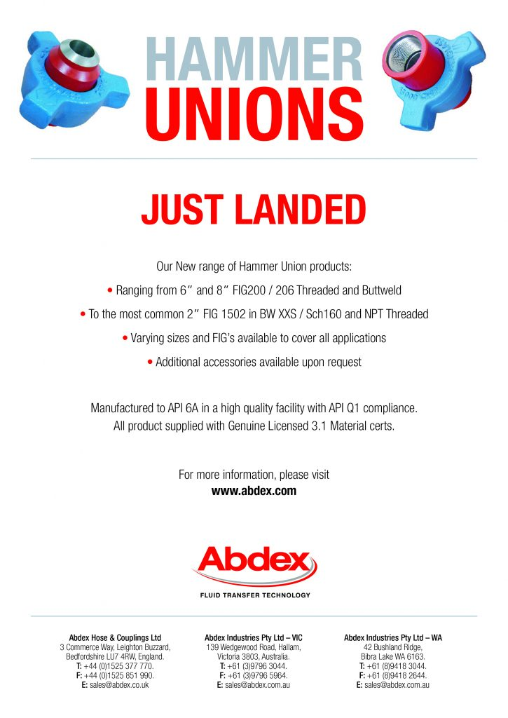 Hammer Unions - New Products_pm